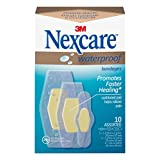 Nexcare Advanced Healing Waterproof Bandages, Assorted Sizes, 10 Count