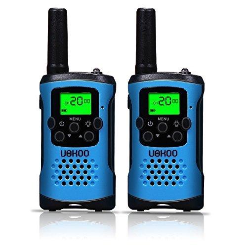 Kids Walkie Talkies, UOKOO 4-Mile Range 22-Channel FRS/GMRS Pair of Walkie Talkies for Kids Toys (1 Pair) Blue