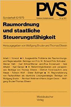 Raumordnung und staatliche Steuerungsfahigkeit (Politische Vierteljahresschrift) (German Edition) (Politische Vierteljahresschrift Sonderhefte)