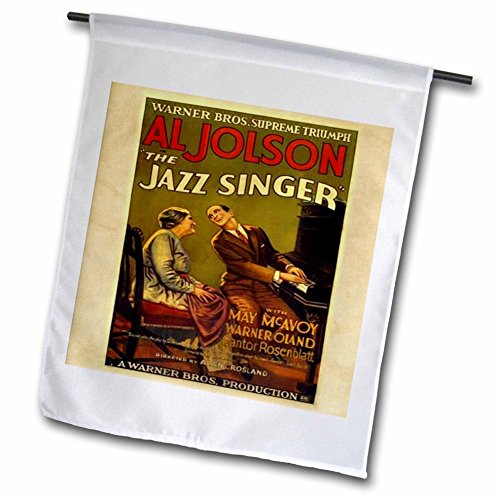 3dRose Florene Vintage Music – image of ad for jazz singer with al jolson – 18 x 27 inch Garden Flag (fl_171655_2) Review