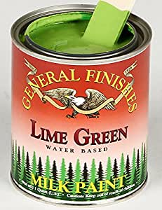 General Finishes Lime Green Milk Paint 1 Quart