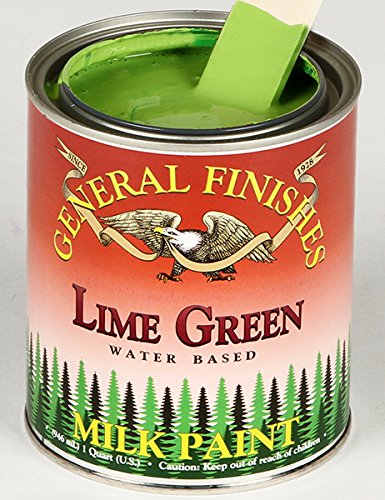 Green Paint Milk (General Finishes Lime Green Milk Paint 1 Quart)