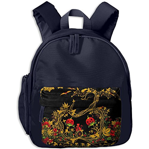 Halloween Art Printed Kids School Backpack Cool Children Bookbag Navy (Best Preschool Halloween Movies)