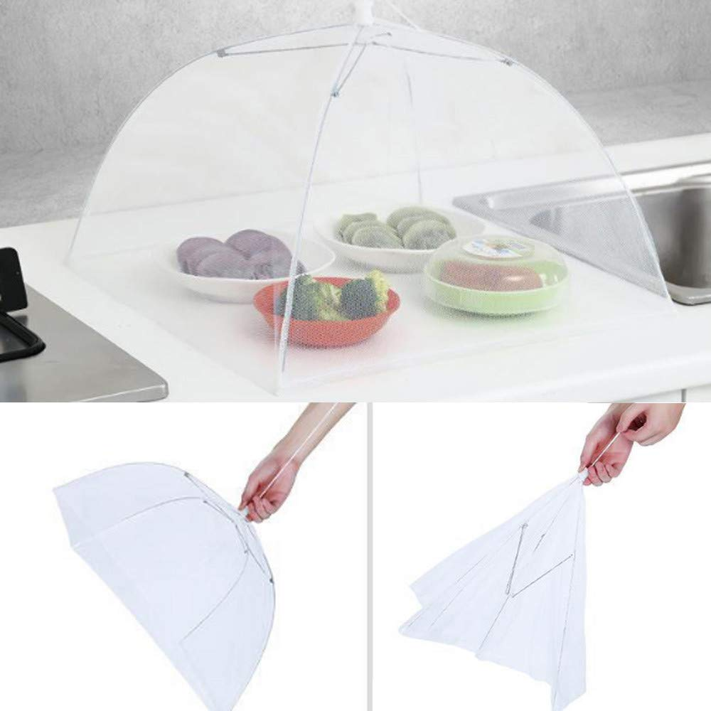 Weite Large Pop-Up Mesh Food Cover Tent Umbrella, Reusable Outdoor Picnic Food Covers, Collapsible Food Cover Net Keep Out Flies, Bugs, Mosquitoes (Multicolor) by Weite (Image #6)