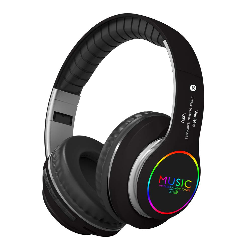 Auriculares Bluetooth Over-Ear LED Light Up Inalambrico Hi-Fi Stereo Plegable Inalambrico/Con Cable Headsets con Mic Mic