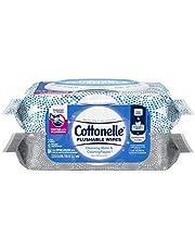 Flushable Wet Wipes, Cottonelle FreshCare, Biodegradable & Septic Safe, 2 Flip-Top Packs (84 Wipes)