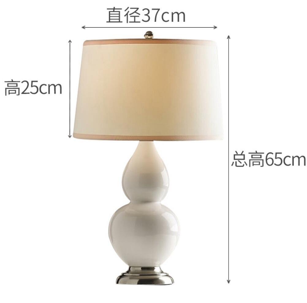 Lampada da tavolo europeo al posto letto Camera da letto Soggiorno zucca lampada in vetro, bianco WDTDCD LIGHTS