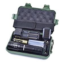 Mokao Bright X800 shadowhawk CREE T6 LED Flashlight Torch Lamp G700 Light Kit