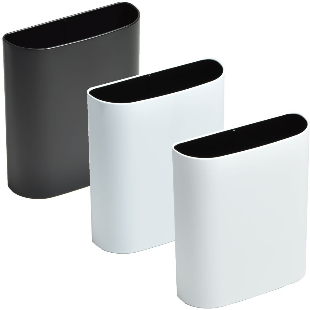 ぶんぶく マグネットバケット 全9色の中から選べる3個セット ゴミ箱 ごみ箱 ダストボックス おしゃれ 日本製 B075K8965T ブラック×ホワイト×マットホワイト ブラック×ホワイト×マットホワイト