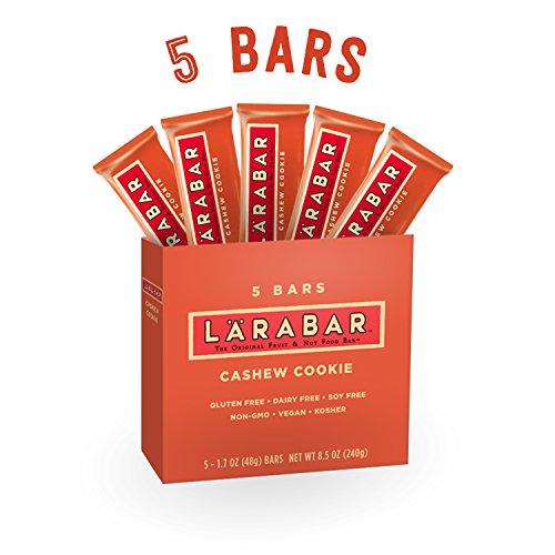 LARABAR, Fruit & Nut Bar, Cashew Cookie, Gluten Free, Vegan, Whole 30 Compliant, 1.7 oz Bars (5 ()