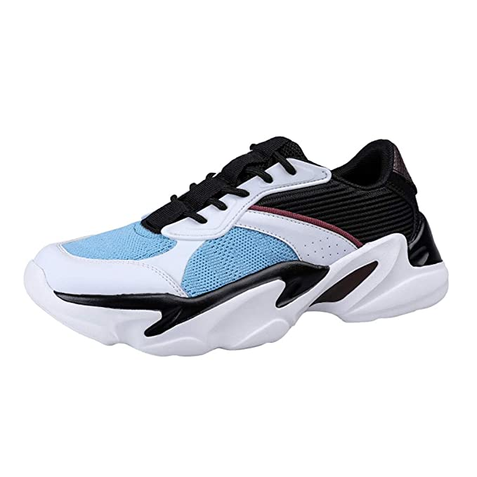 4679b37d64372 Amazon.com: Men's Fashion Retro Color Blocked Sneakers Casual Sport ...