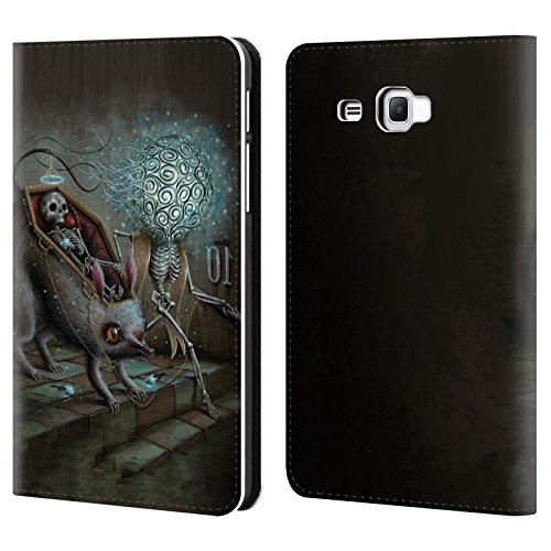 Official Jason Limon No Mans Land Skull Leather Book Wallet Case Cover For Samsung Galaxy Tab A 7.0 (2016)