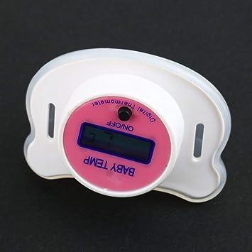 LCD Digital Infantil Temperatura de la Boca del pezón Termómetro Temperatura Sin Mercurio (Rosa)