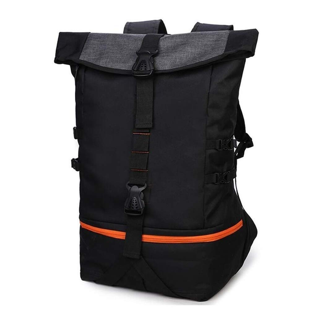 MYXMY Men's Large-Capacity Backpack Bucket Bag Student Basketball Bag Hiking Leisure Sports Training Fitness Hiking Backpack