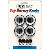 LUX PRODUCTS CPR410 Black Gas Burner Knob (4 Pack)