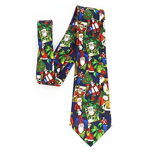 BOXMO Mens Big Boys Fun Merry Christmas Ties Innovative design Printed Patterned Necktie (Christmas 7)
