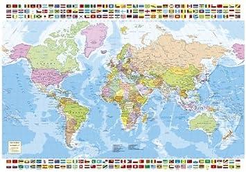 Puzzles Educa - Puzzle Mapa del Mundo, 1500 Piezas (16301): Amazon.es: Juguetes y juegos