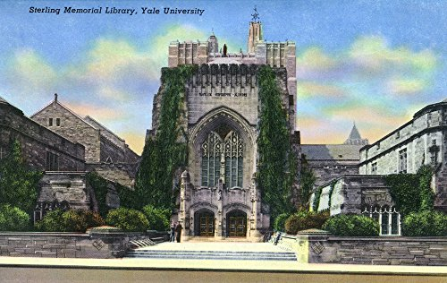 New Haven, Connecticut - Yale University Sterling Memorial Library Exterior View (24x36 SIGNED Print Master Giclee Print w/Certificate of Authenticity - Wall Decor Travel Poster)