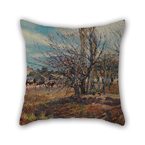 Oil Painting Fernando Fader - Fin De Invierno Cushion Cases ,best For Floor,shop,lover,kids Room,kitchen,dance Room 18 X 18 Inches / 45 By 45 Cm(2 Sides)