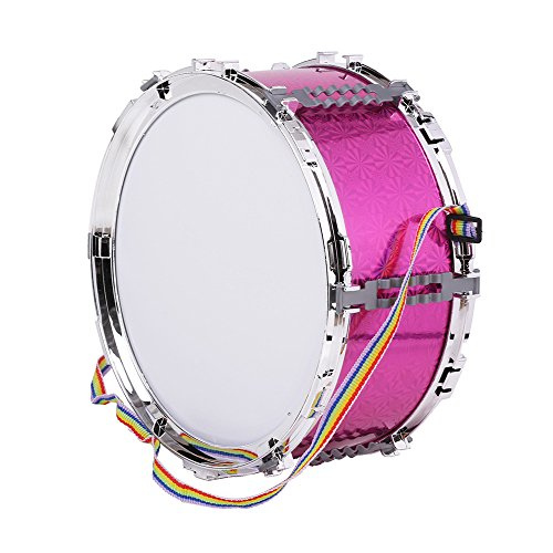 Kalaok Colorful Jazz Snare Drum Musical Toy Percussion Instrument with Drum Sticks Strap for Children Kids