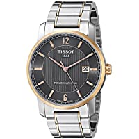 Tissot T-Classic Two-Tone Titanium Automatic Black Dial Men's Watch