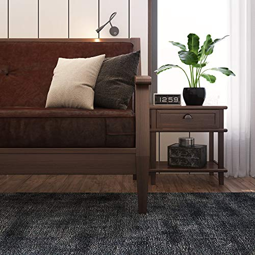 Classic Brands Classic Brown 8-Inch Futon Mattress with Independently Encased Innerspring Coils, Full