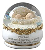 Josephs Studio Baby in Wings Musical Glitterdome, 4-1/2-Inch