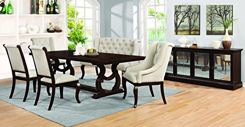 Glen Cove Dining Table with Trestle Antique Java