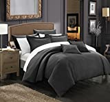 Chic Home 11 Piece Khaya Down Alternative Jacquard Striped Comforter Set, King
