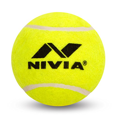 Nivia Heavy Tennis Ball Cricket Ball (Pack of 6), Yellow (Best Cricket Ball Brand In India)