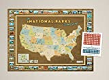 ON A QUEST TO VISIT ALL 59 NATIONAL PARKS? This unique National Parks Travel Quest Map displays all of our National Park locations in a one-of-a-kind map set. Perfect for tracking family car trips to visit all of our beautiful National Parks. This Un...