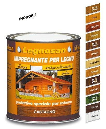Veleca Legnosan, Impregnante per Legno, Noce Chiaro: Amazon.it: Fai ...