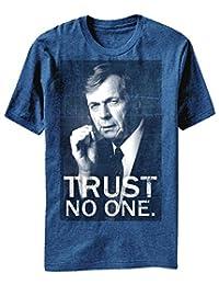 X-Files Trust No One Smoking Man T-Shirt, Blue L
