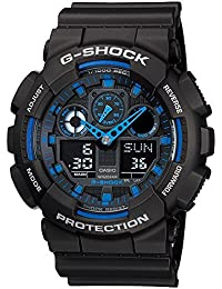 G-Shock GA100-1A2 Ana-Digi Speed Indicator Black Dial Men's Watch