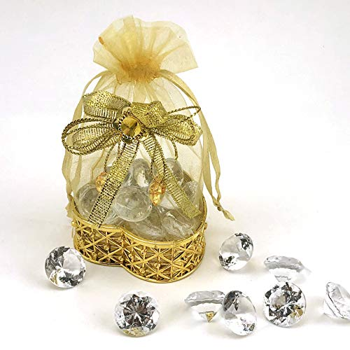 - JC HUMMINGBIRD 24PC Fillable Heart Crown for Table Decorations, Party Favors, Candies, Wedding