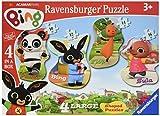Ravensburger Bing Bunny 4 Large Shaped Jigsaw Puzzles (10,12,14,16pc)