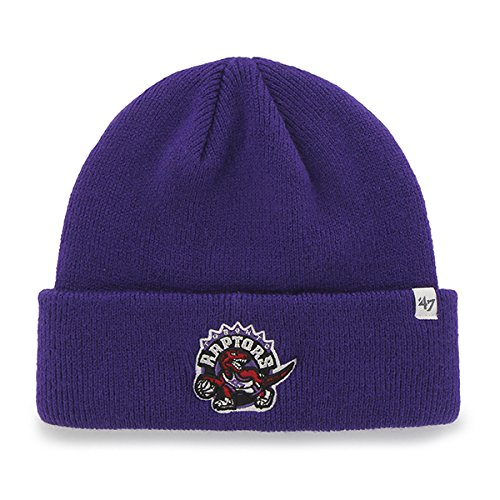 Toronto Raptors Purple Cuff Beanie Hat - NBA Cuffed Winter Knit Toque Cap