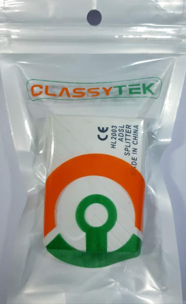 CLASSYTEK ADSL Internet Phone Filter Splitter Broadband Modem Box ...