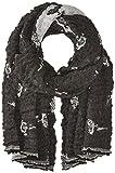 Armani Jeans Women's Mini Rose Print Woven Scarf, black, One Size