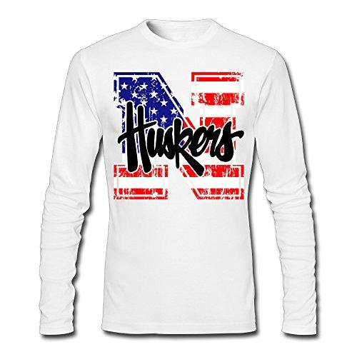 LCNANA University Of Nebraska Lincoln Men's Custom Blank Long Sleeve T-Shirt White S