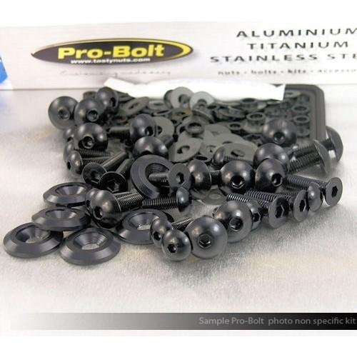 Pro Bolt Kit Fairing (Pro-Bolt Aluminum Fairing Bolt Kit - Black FKA194-BK)