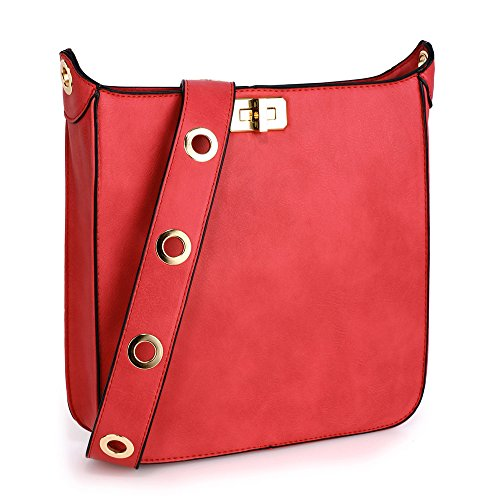 Over School Faux Travel Or Bags Cross 3 Body College Use Large Ladies Red Crossbody Handbags For Leather Women Designer Design Shoulder Daily wXx46gxq