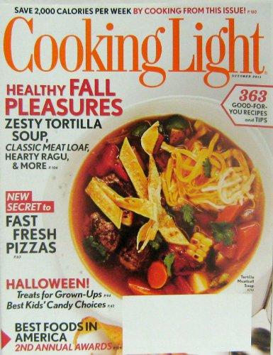 Meatloaf Halloween Recipes (Cooking Light Magazine (Healthy Fall Pleasures, October)