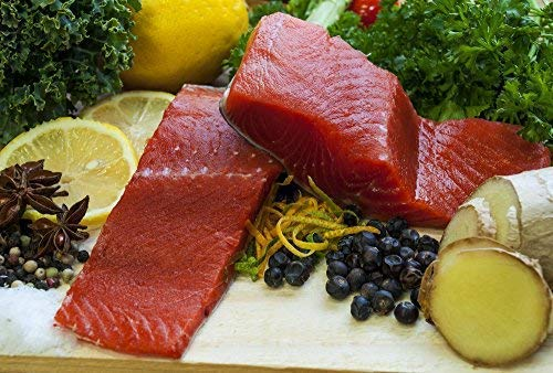 - Wild Alaska SOCKEYE Salmon - 5lb Box of Boneless 6oz Portions.