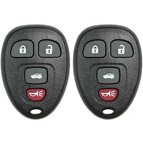 Keyless2Go New Keyless Entry Replacement Remote Car Key Fob for Select Malibu Cobalt Lacrosse Grand Prix G5 G6 Models That use 15252034 KOBGT04A Remote (2 Pack) ()