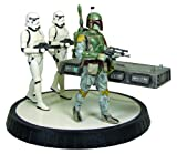 Star Wars: Boba Fett with Han in Carbonite Statue