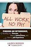 All Work, No Pay, Lauren Berger, 1607741687