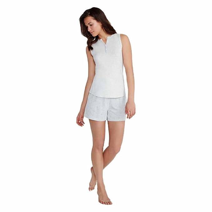 PROMISE Pijama de algodón sin Mangas N05392 - Gris Vigore, XL