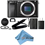 Sony Alpha a6000 Mirrorless Digitial Camera 24.3MP SLR Camera with 3.0-Inch LCD (Black) (Body Only, Cloth Only)