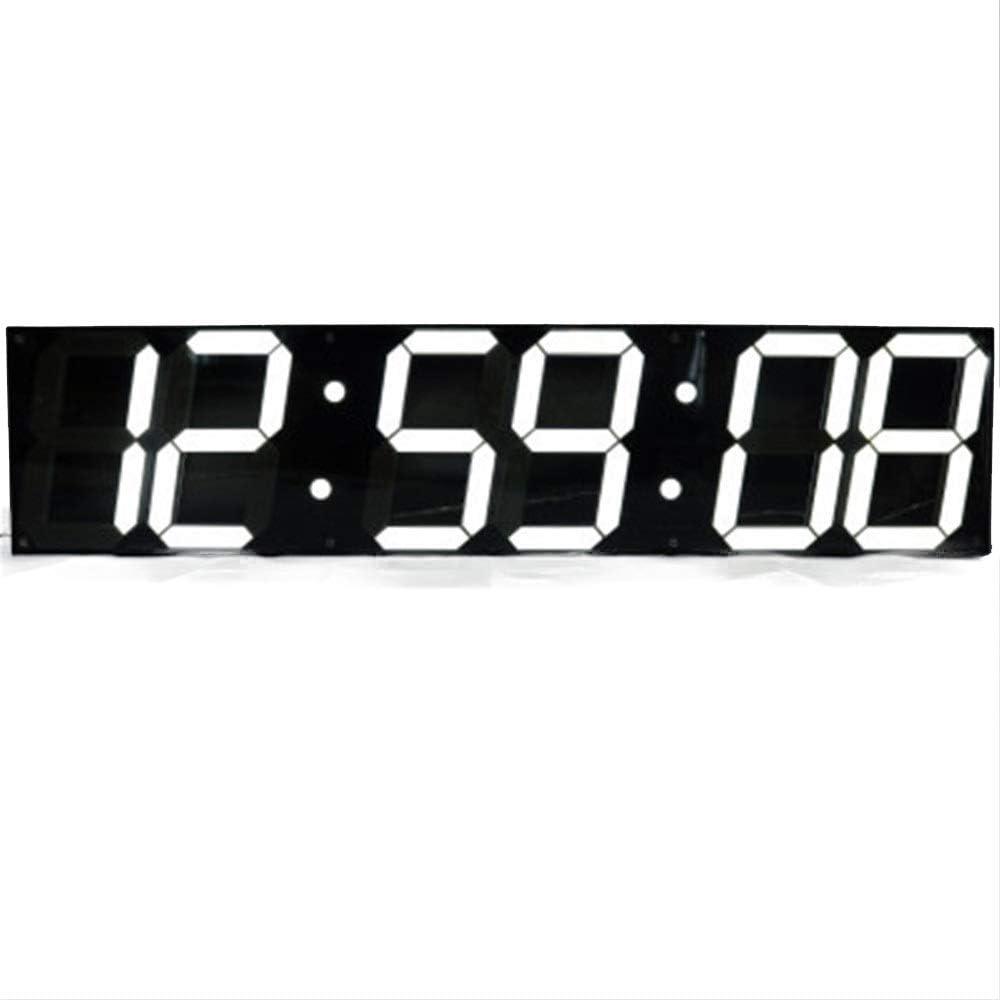 LEDデジタルタイマー 大きな壁時計LEDデジタル多機能リモコンカウントダウンタイマー 大きな赤い数字ディスプレイ (色 : ブラック, サイズ : 69.5X16X2CM) ブラック 69.5X16X2CM